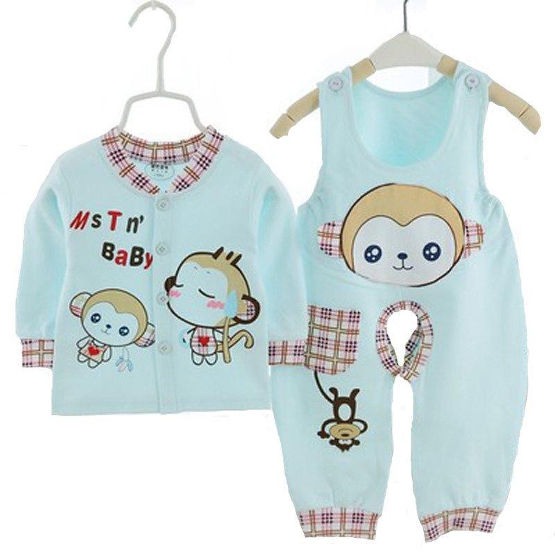 婴童套装 婴儿内衣 新生儿衣服 宝宝纯棉猴子图案可爱