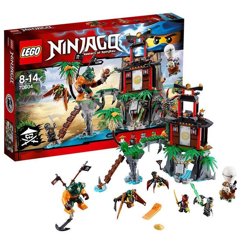 乐高 幻影忍者系列 70604 大战猛虎蜘蛛岛 lego ninjago 积木玩具益智