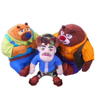 boonie bears/熊出没 熊大 熊二 光头强 全家福 礼品套装 毛绒公仔图片