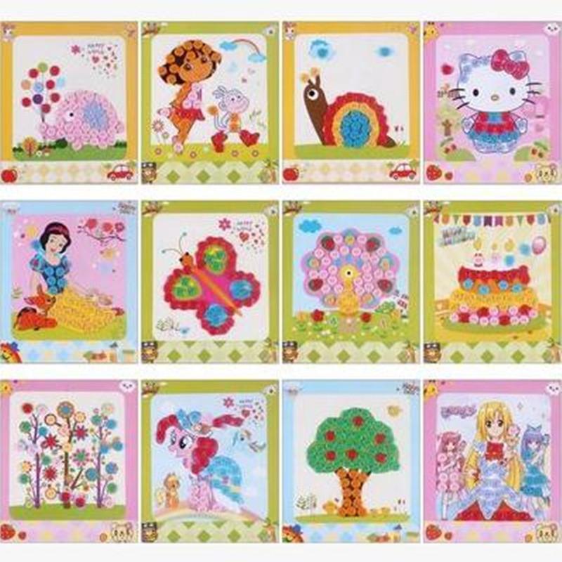 梦童工坊 diy纽扣画 儿童手工制作幼儿园粘贴画装饰画