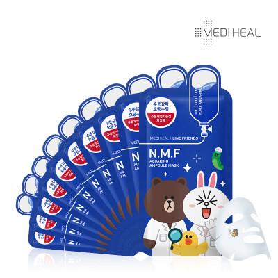 可莱丝 限量版卡通line动物nmf针剂面膜10片