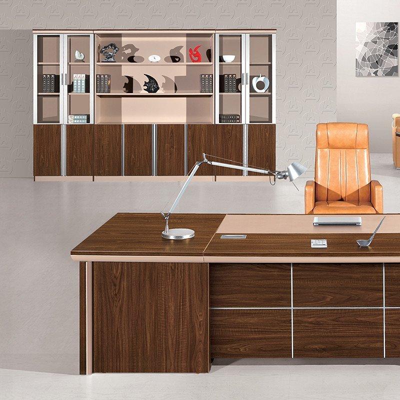 优发办公家具 板式胶板 高档总裁台 简约现代老板桌 时尚大班桌 主管图片