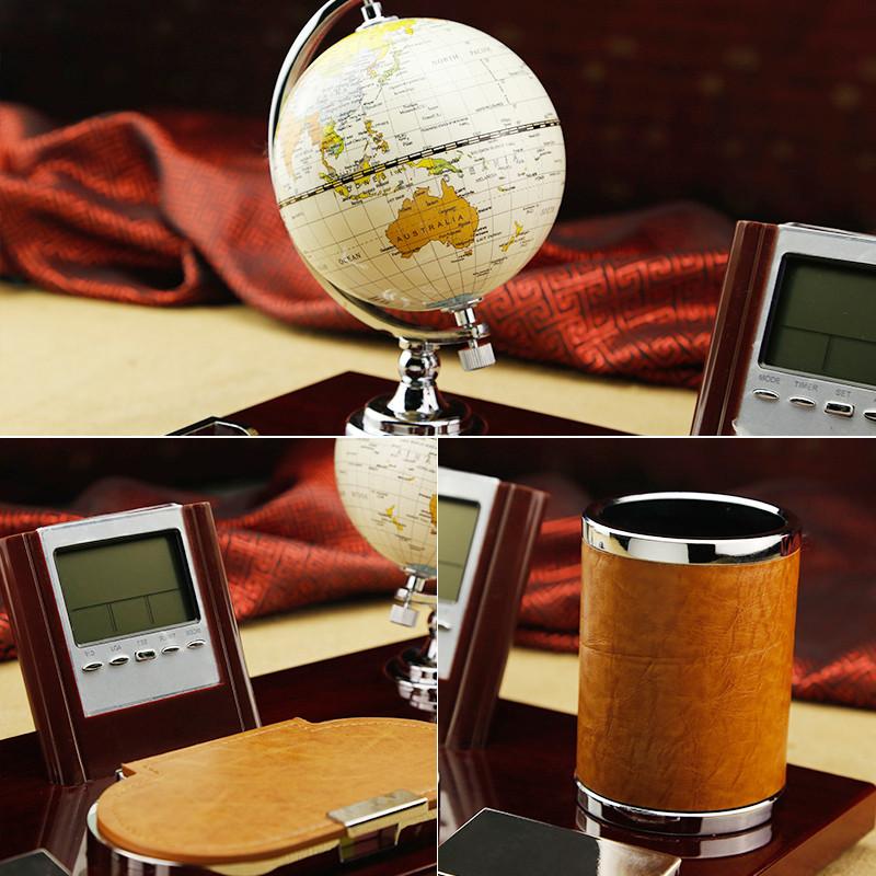 2016桌面装饰品创意办公桌摆件 领导办公室摆件笔筒台历架商务礼品
