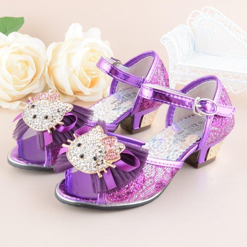 夏新款女童凉鞋儿童高跟韩版时尚可爱公主鞋童凉鞋