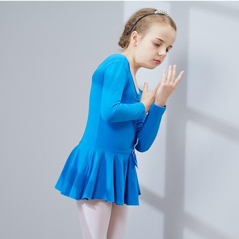 秋冬季儿童舞蹈服装 女童长袖幼儿练功服少儿体操芭蕾