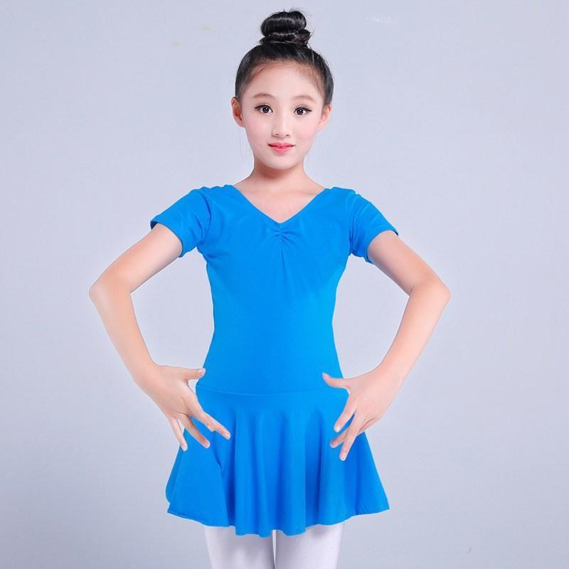 儿童舞蹈服装练功服短袖长袖女童演出服棉连体服考级服中国舞服图片