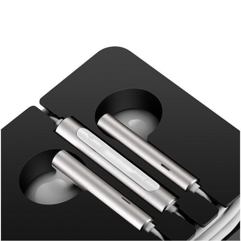 华为(huawei) am116耳机原装三键线控带麦半入耳式金属耳机 适用p9 p8