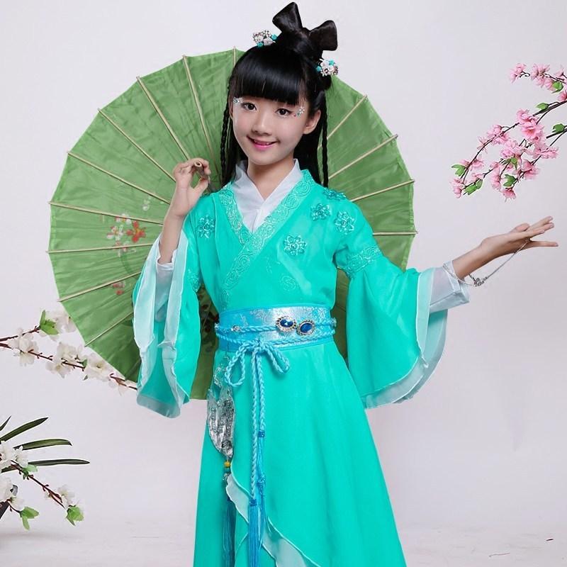 古装服装儿童仙女汉服女童公主贵妃唐装写真古筝碧瑶演出服