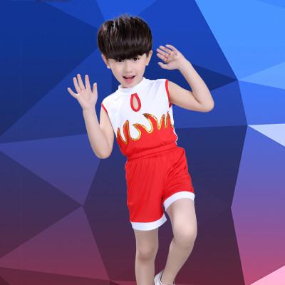 元旦儿童演出服幼儿园体操健美操少儿拉拉队服装男女童啦啦操服装 xmy