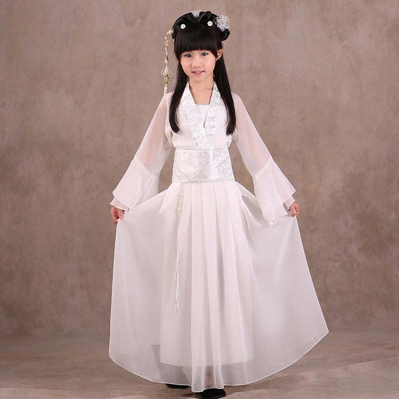 儿童古装仙女服装汉服舞蹈演出服女童公主裙cos古代贵妃女孩服装
