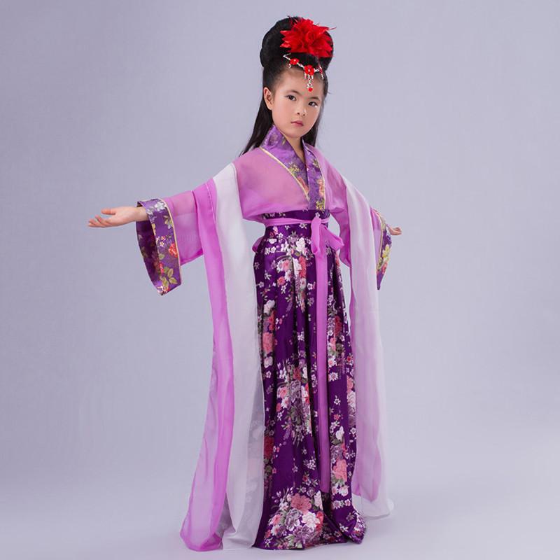 儿童古代古装服装小孩演出服学生表演仙女飘逸汉服公主服装襦裙夏