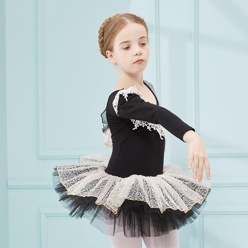 秋冬季儿童舞蹈服装女童长袖幼儿芭蕾舞裙少儿体操服练功服