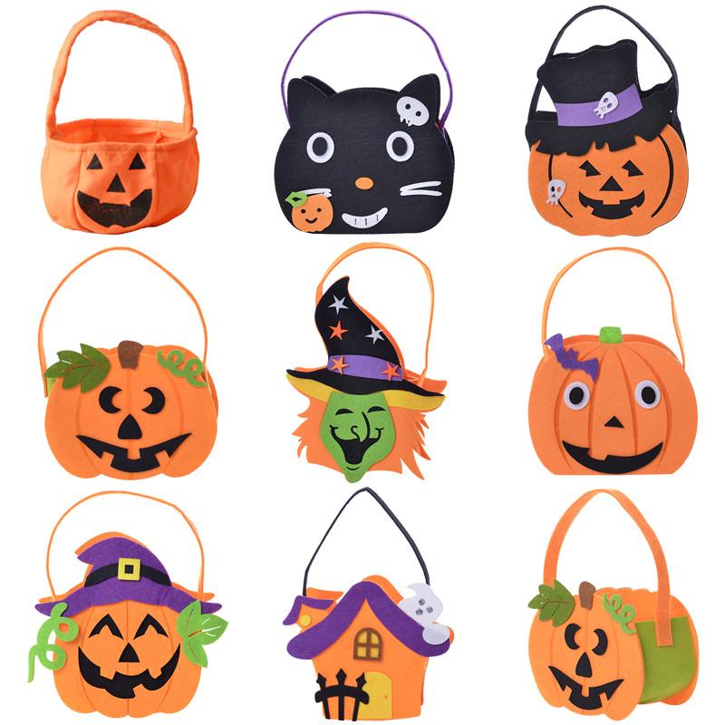 幼儿园万圣节儿童礼物糖果袋创意礼品立体无纺布南瓜袋宝宝手提袋