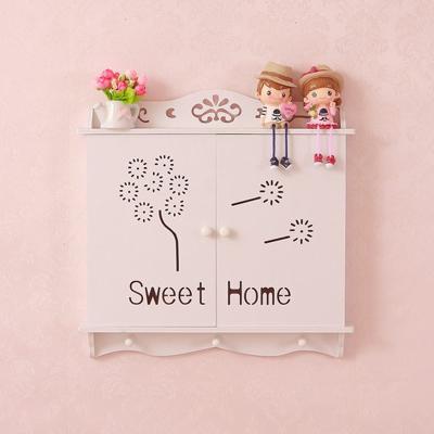 美思来登创意家居装饰品木塑电闸箱电表箱框遮掩箱置物支架壁挂装饰墙饰壁挂