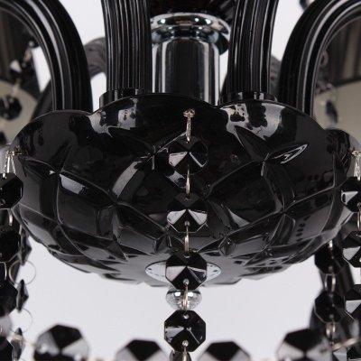一指点灯 欧式全黑色玻璃灯现代简约水晶蜡烛灯饰布艺