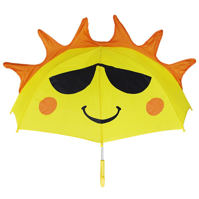 3d立体直柄儿童雨伞 可爱公主伞 幼儿园学生晴雨伞 男女宝宝卡通遮阳