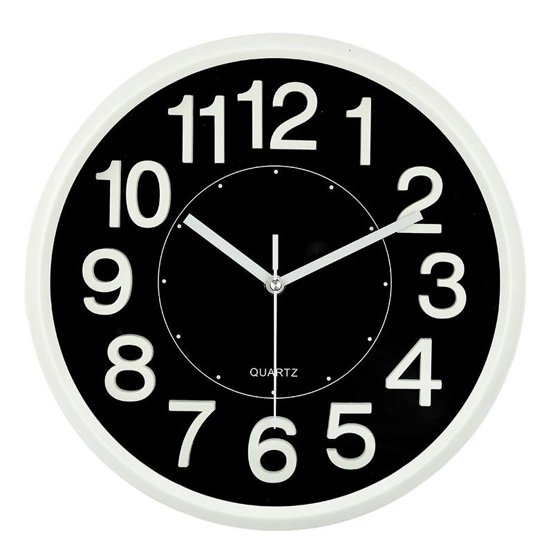 德利时12英寸卡通静音挂钟 客厅卧室挂 可爱钟表简约卡通时钟石英钟
