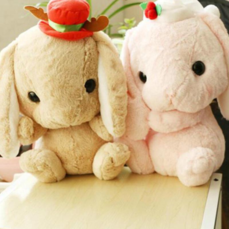 毛绒玩具可爱超萌垂耳朵兔圣诞小白兔七夕情人节礼物布娃娃公仔