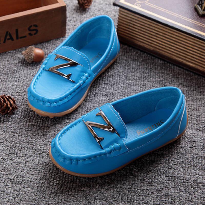 魔灯城堡新款豆豆鞋男女儿童单鞋子皮鞋懒人鞋学步宝宝鞋174t