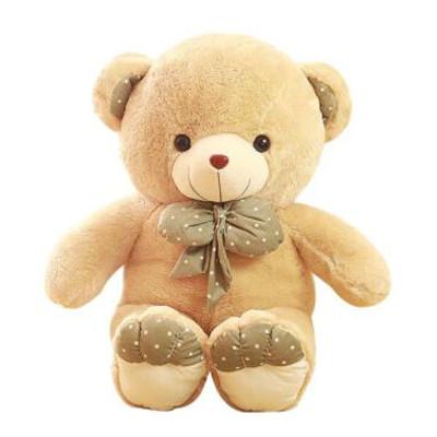 笑萌 泰迪熊毛绒玩具公仔领结熊可爱玩偶布娃娃抱熊情人节礼物女 绿色