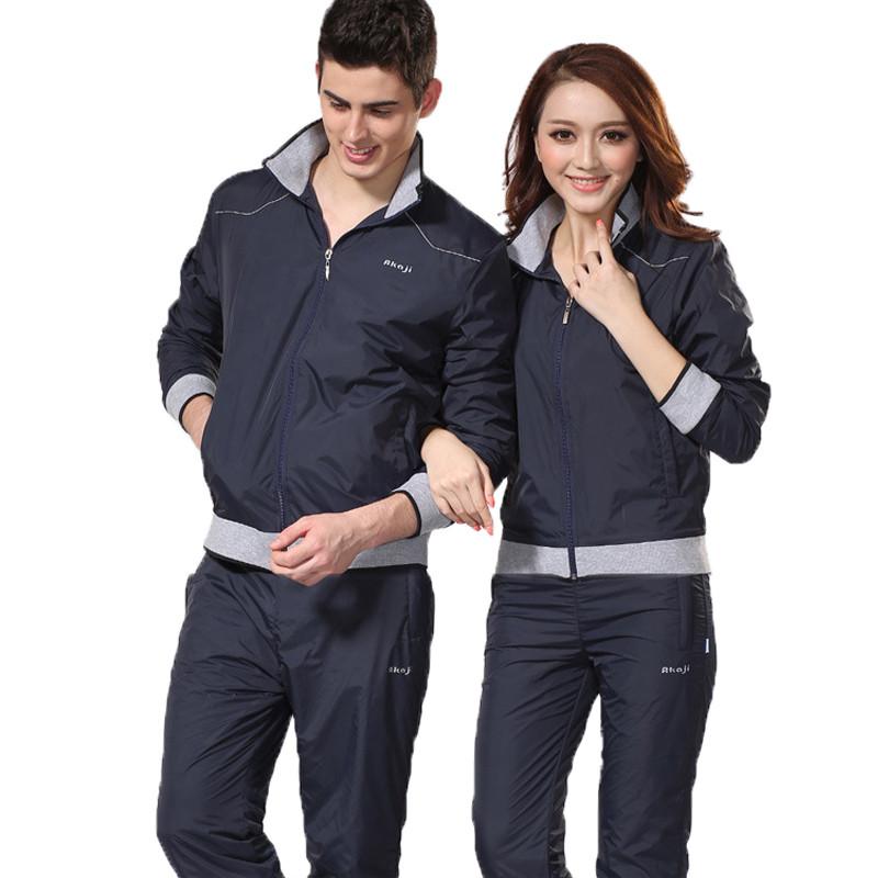 秋季运动服饰情侣款 青少年运动套装男春秋冬季女士运动装 套装户外翻
