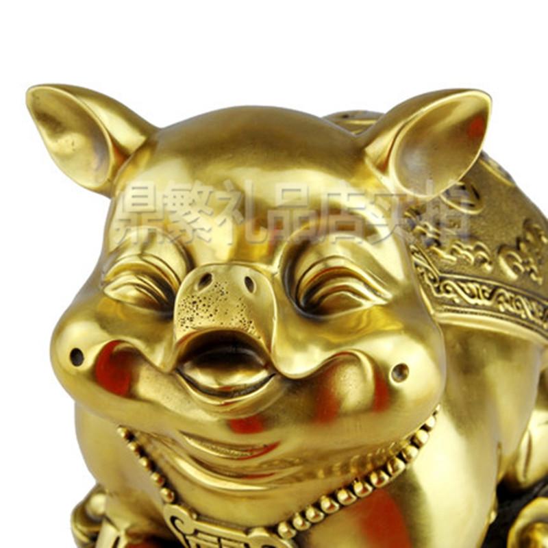 纯铜猪摆件 招财旺财猪家居风水装饰品摆设可爱工艺品