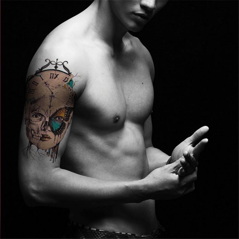 静闲居 纹身贴防水男花臂彩色图腾持久防水霸气纹身贴纸仿真刺青文艺