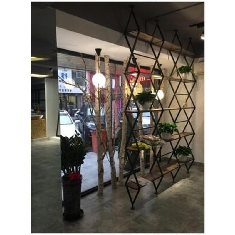 唐傲loft美式复古铁艺创意书架客厅隔断 北欧镂空玄关