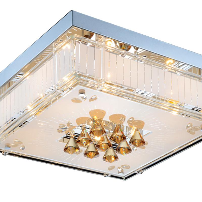 雷士照明 led卧室吸顶灯 现代时尚餐厅灯 客厅水晶灯方形吸顶灯饰
