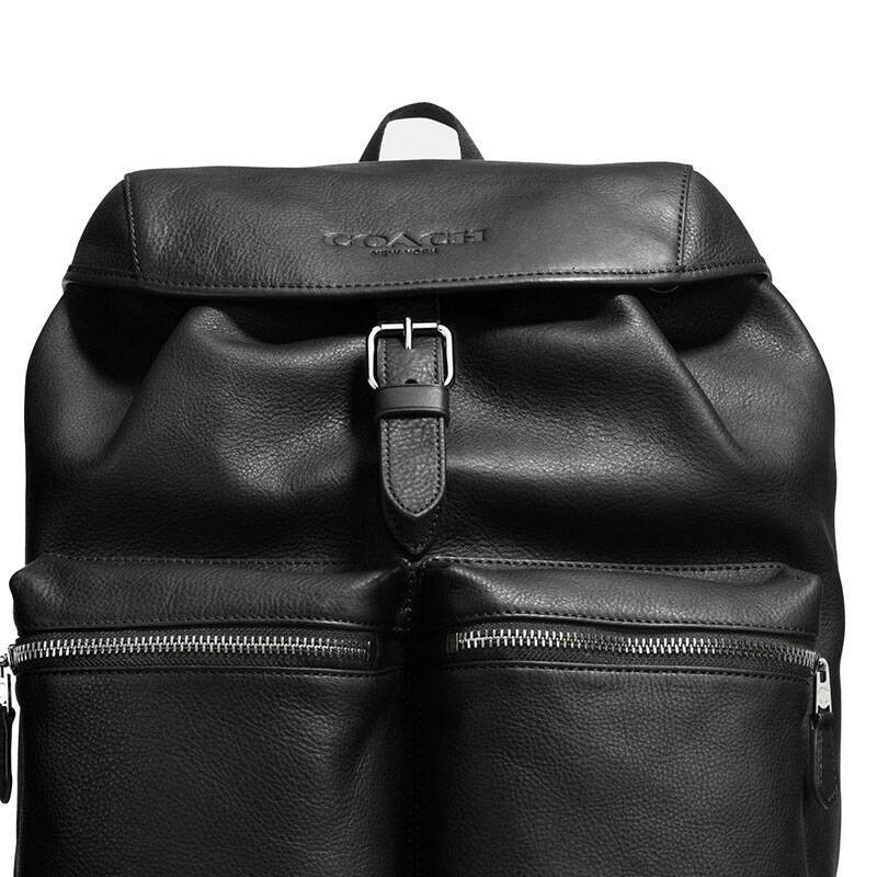 coach 蔻驰 新款时尚休闲真皮男士双肩背包旅行包 f72305