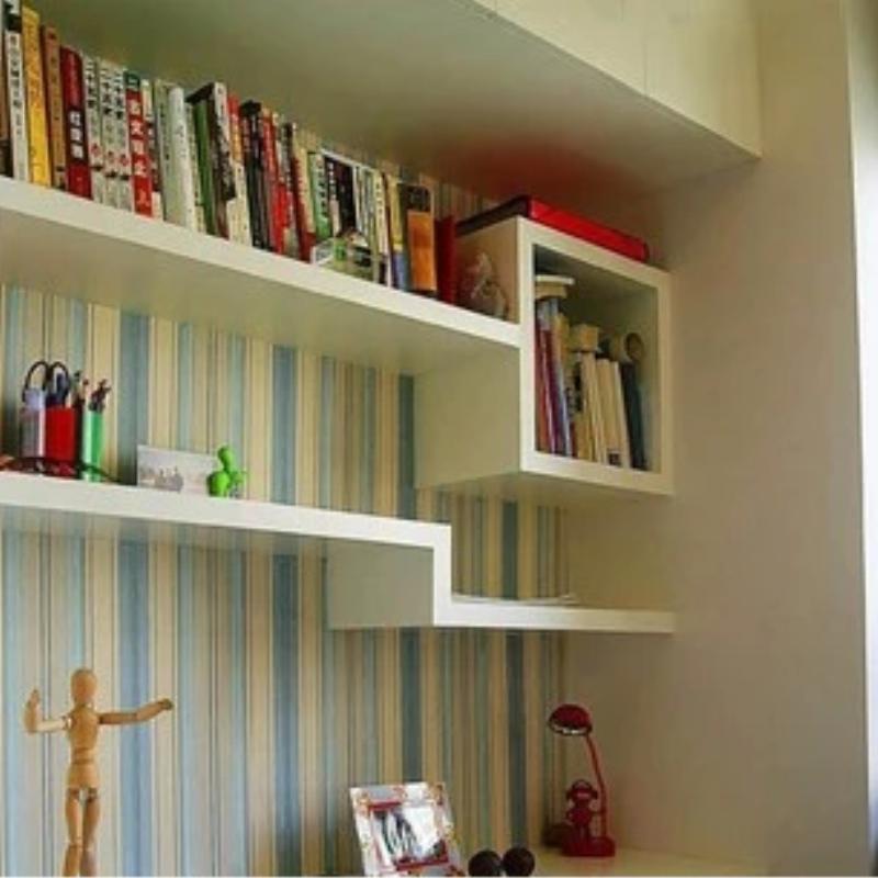 创意壁柜搁板隔板壁挂书架墙上置物架层架收纳墙架书房装饰架吊柜