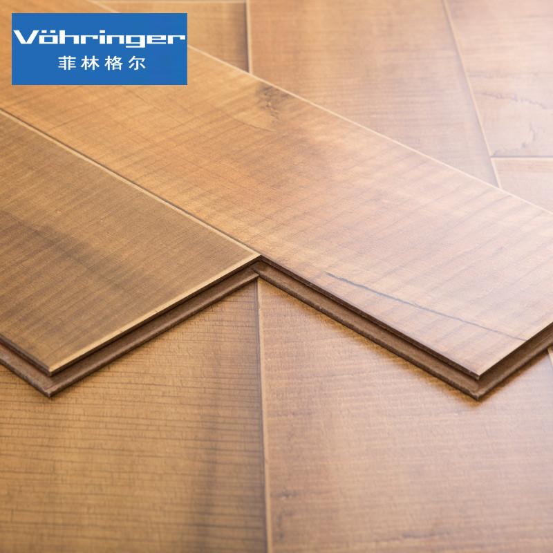 菲林格尔 浮雕拼花木地板德国高密度纤维板强化复合地板v-449