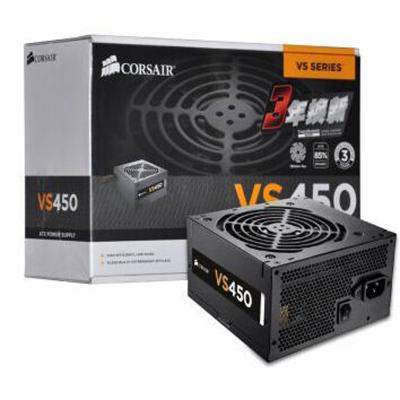美商海盜船(USCorsair)額定450W VS450 電源 80PLUS認證/12cm風扇/轉換效率85%/主動PF
