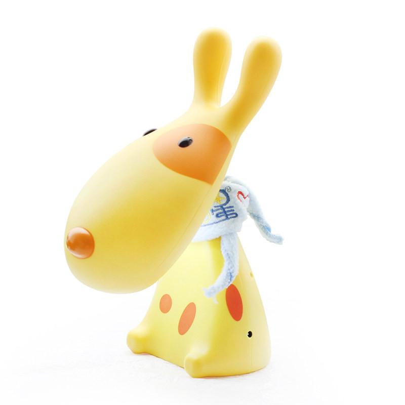 吟秀 可爱卡通led兔子充电台灯护眼创意学生学习工作卧室床头小夜灯具