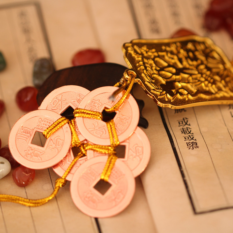 吟秀 八铜钱挂件 合金六铜钱 六帝钱挂件八帝钱居家工艺品