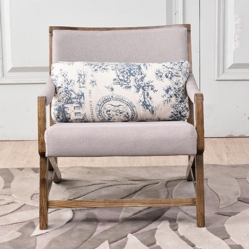 北欧沙发 实木沙发 日式沙发单人布沙发客厅