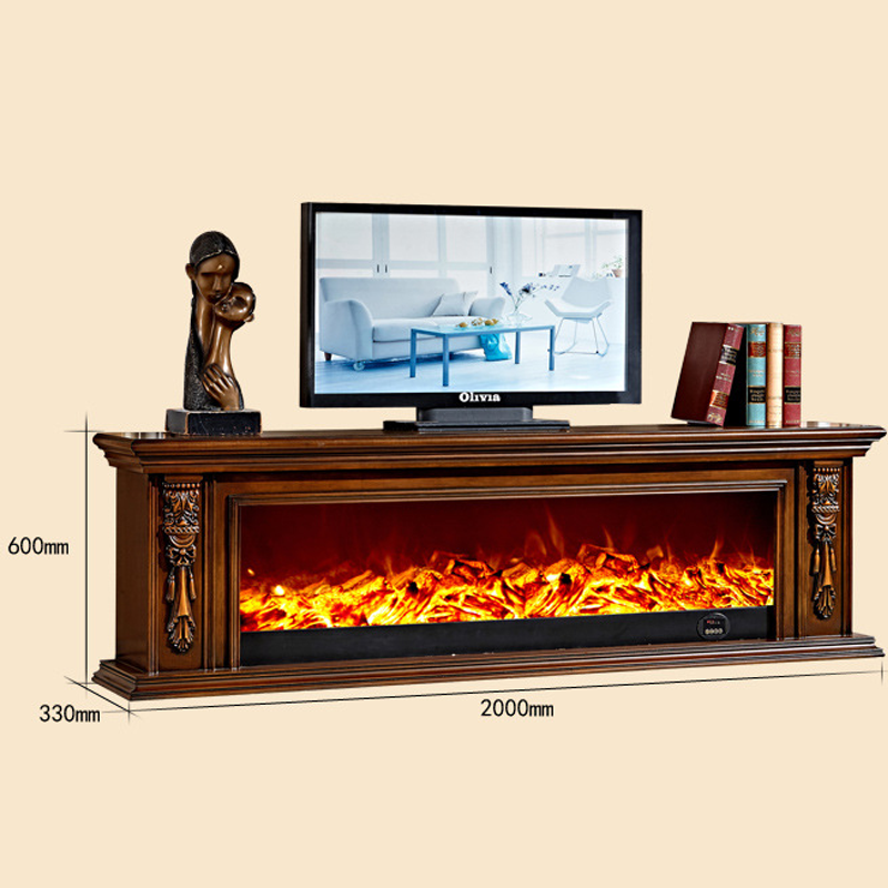 2016欧式壁炉电视柜 深色装饰取暖壁炉架 雕花电壁炉装饰柜8104