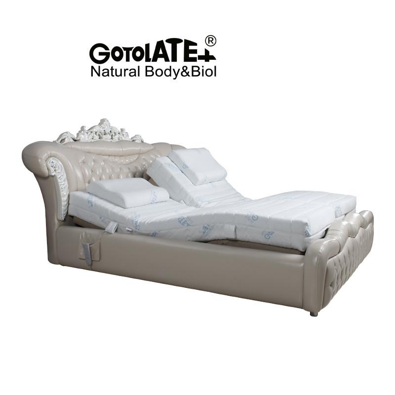 歌蕾丝智能养生床双人床婚床欧式床公主床皮床皮艺床电动升降床家用辅