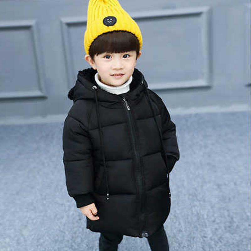 只做好质量】儿童大衣男女童羽绒棉衣外套中小童可爱连帽冬装羽绒棉服