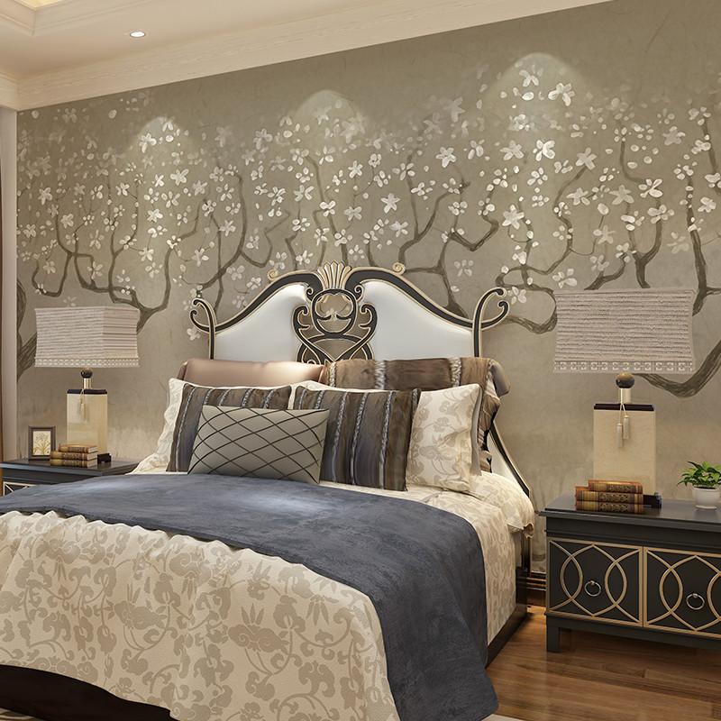 北欧客厅卧室影视墙墙纸 定制整张无缝墙布图片