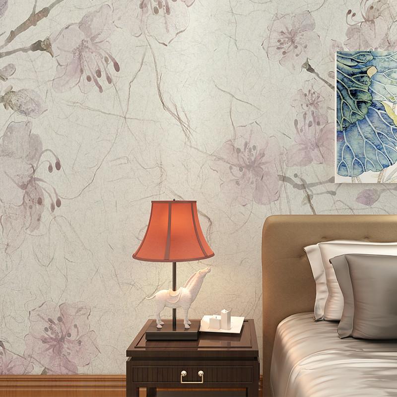 怀旧花卉美式背景墙壁画 客厅影视墙创意墙纸 卧室无缝无纺布定制墙布