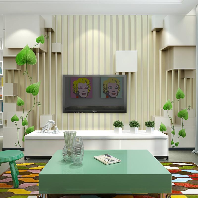 现代简约客厅电视背景墙壁纸3d无纺布壁画欧式墙纸影视墙整张墙布6534