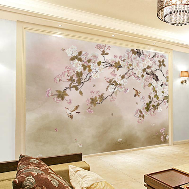 卡茵 定制电视背景墙壁纸 卧室整张无缝墙布 创意大型影视墙壁画 会议图片