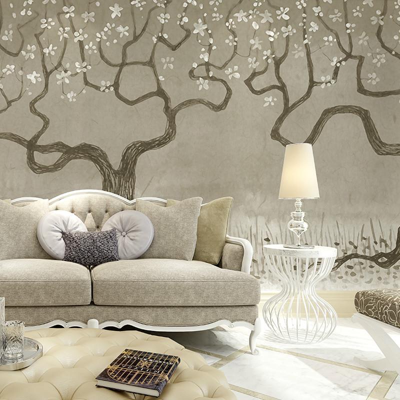 卡茵 复古素雅壁纸 手绘个性几米风格背景墙壁纸 北欧