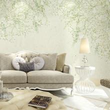 卡茵 现代简约手绘北欧清新花卉背景墙 沙发墙壁纸卧室墙纸客厅电视墙图片