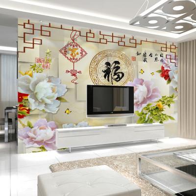 现代简约客厅电视背景墙壁纸3d无纺布壁画欧式墙纸影视墙整张墙布4223