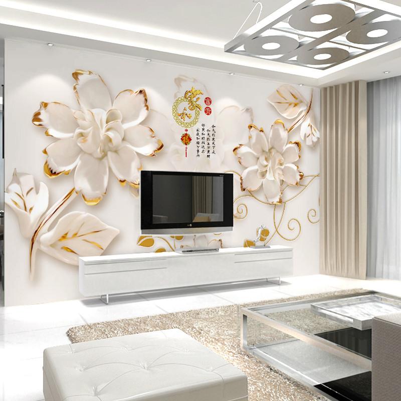 卡茵 中式家和客厅电视背景墙壁画 简约沙发背景墙壁纸定制无纺布图片