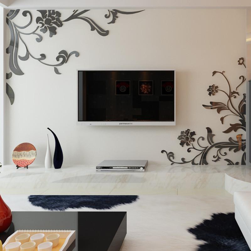 装饰贴 自粘立体贴贴画 亚克力立体墙贴 客厅卧室电视背景墙房间影视