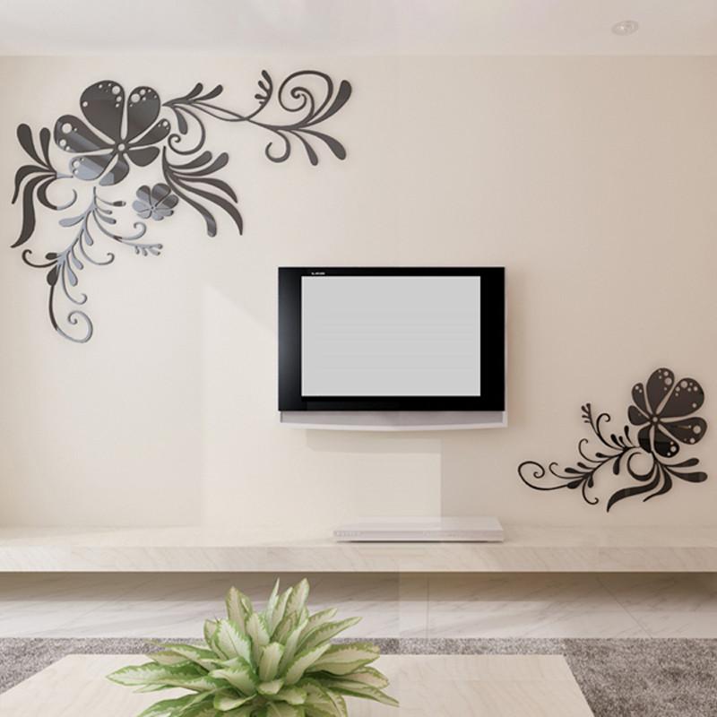 墙贴 壁贴 电视背景墙装饰墙贴 亚克力立体墙贴纸 客厅卧室房间影视墙