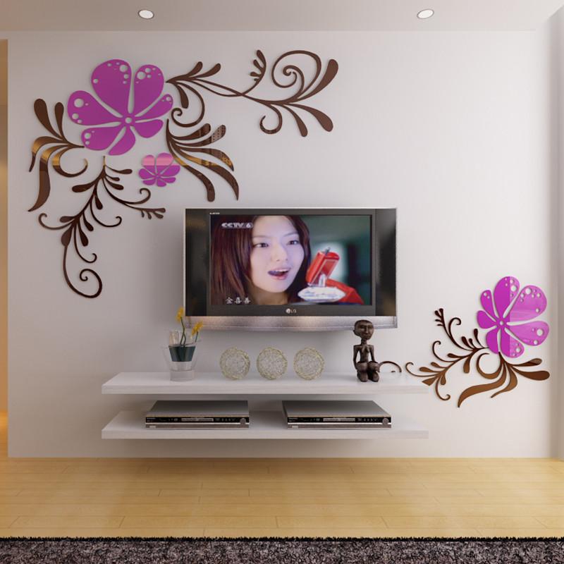 电视背景墙装饰墙贴 亚克力立体墙贴纸 客厅卧室房间影视墙装饰贴画